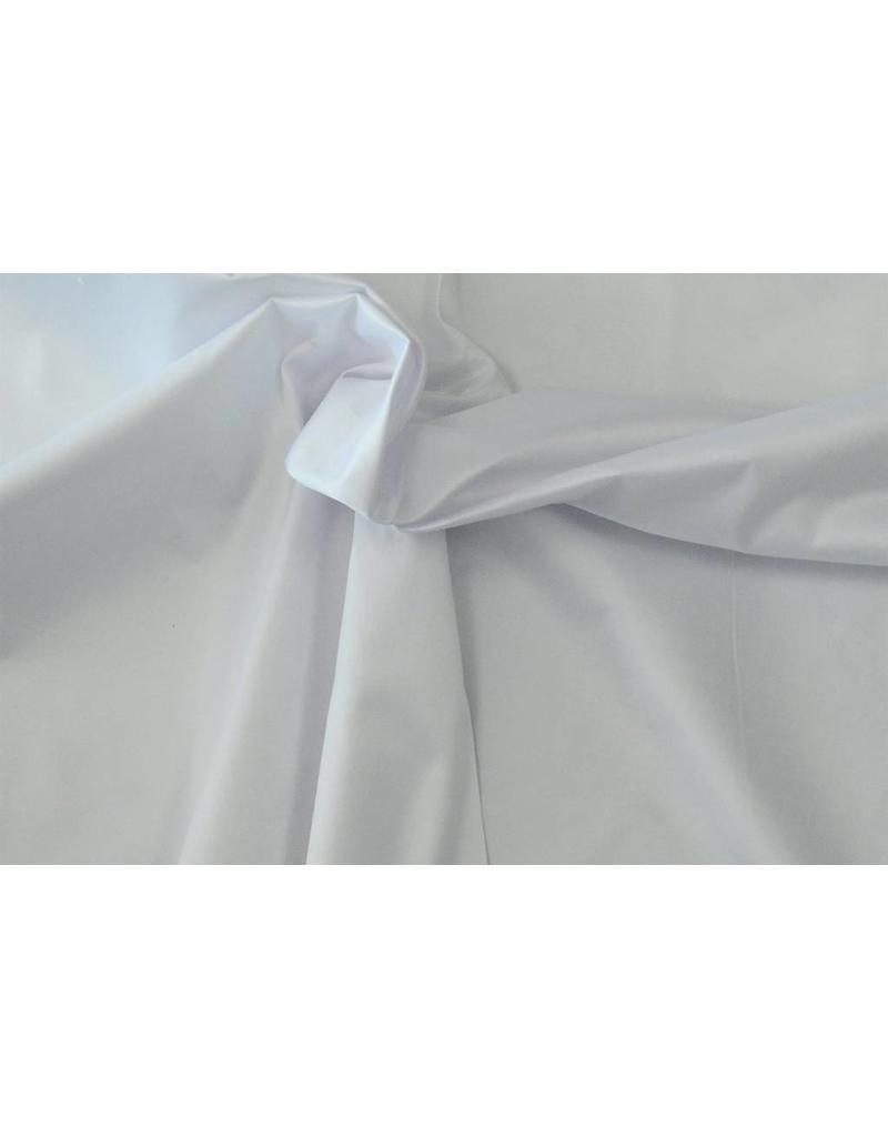 Glänzende Baumwolle Uni S14 - weiß