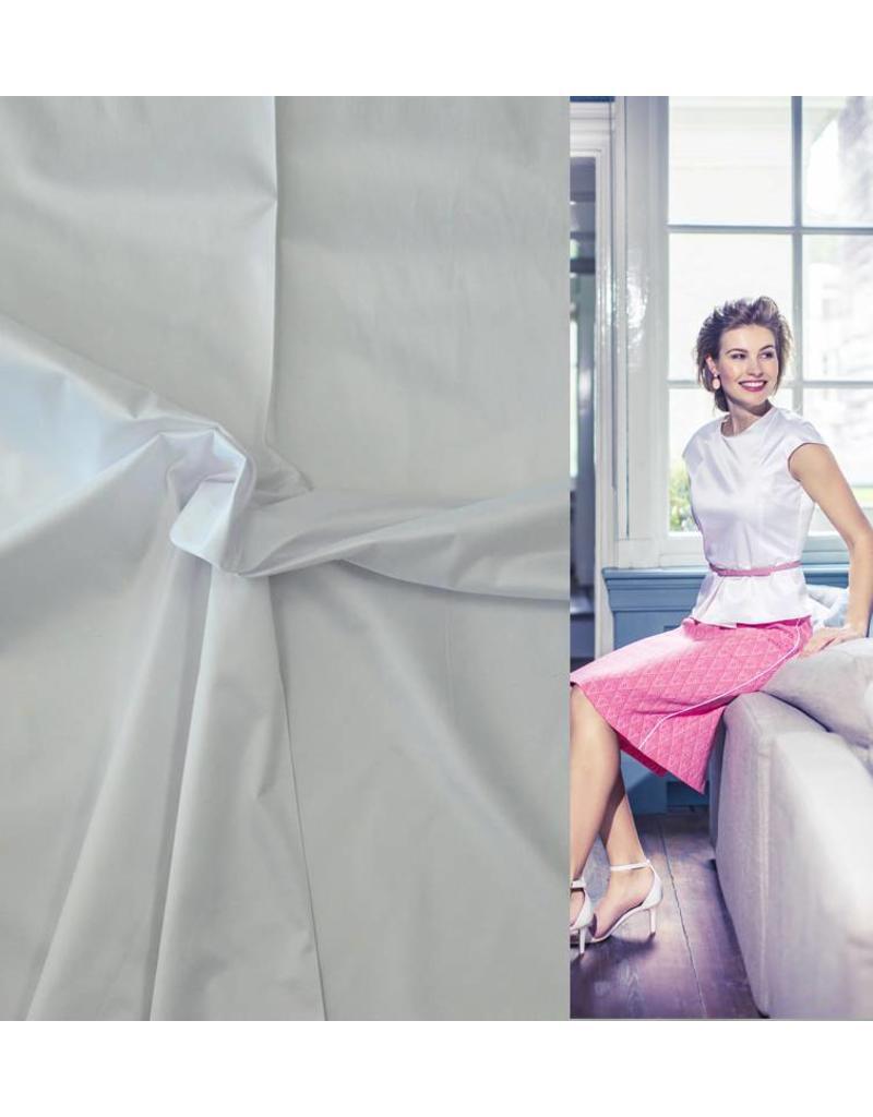 Glossy Cotton Uni S14 - blanc
