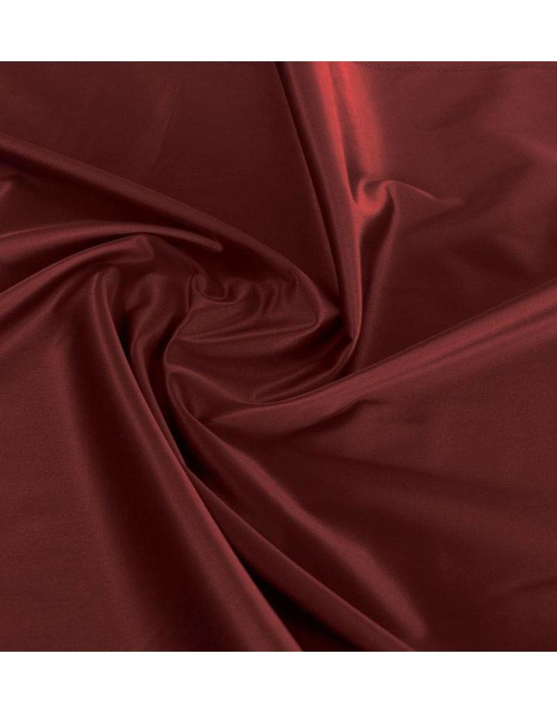 Glänzende Baumwolle Uni S21 - dunkelrot