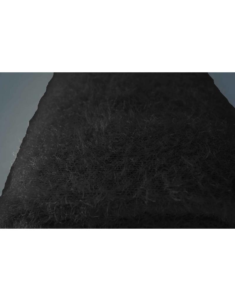 Flauschiger Strick B15 - schwarz