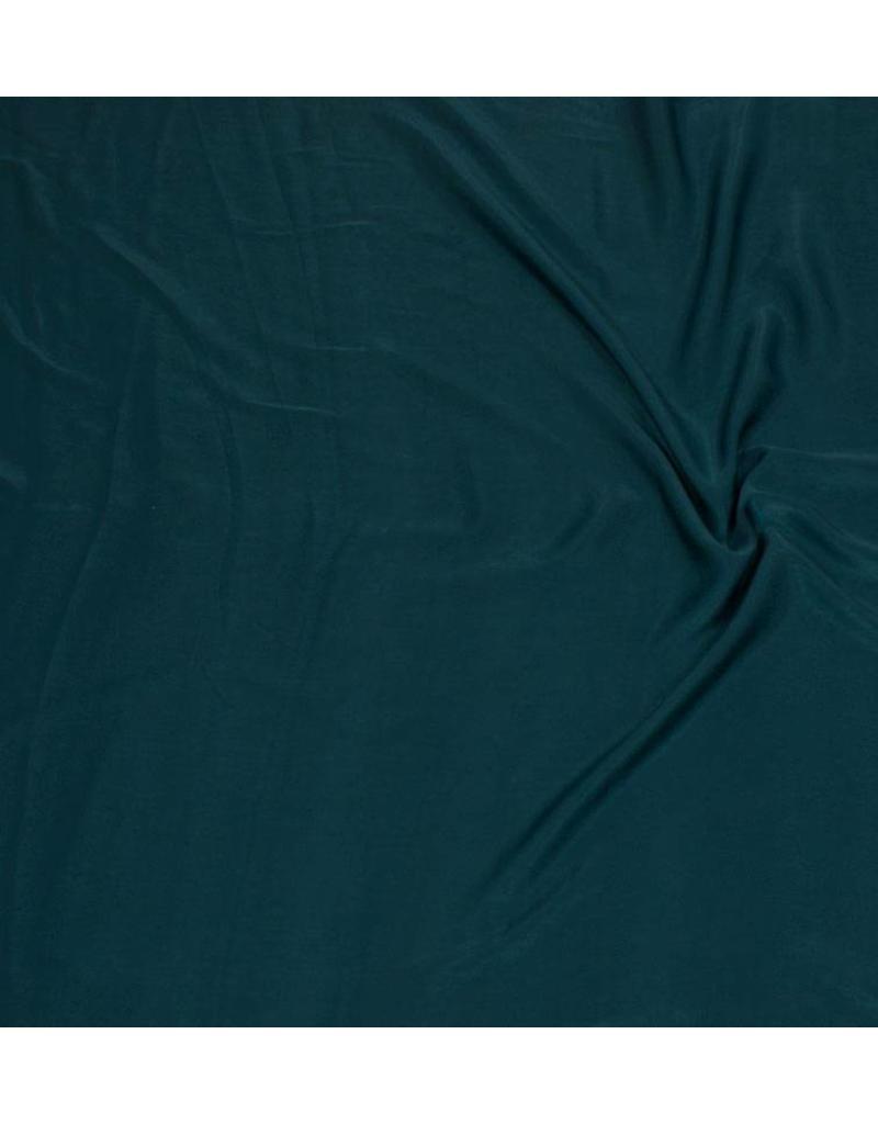 Washed Imitation Silk D009 - petrol