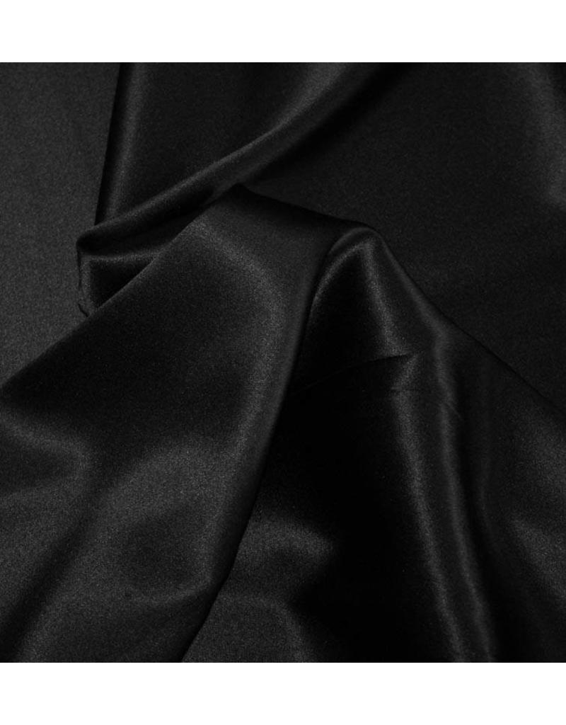 Stretch Seide D12 - schwarz