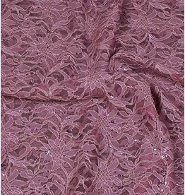 Lace with Sequins KG06 - old pink