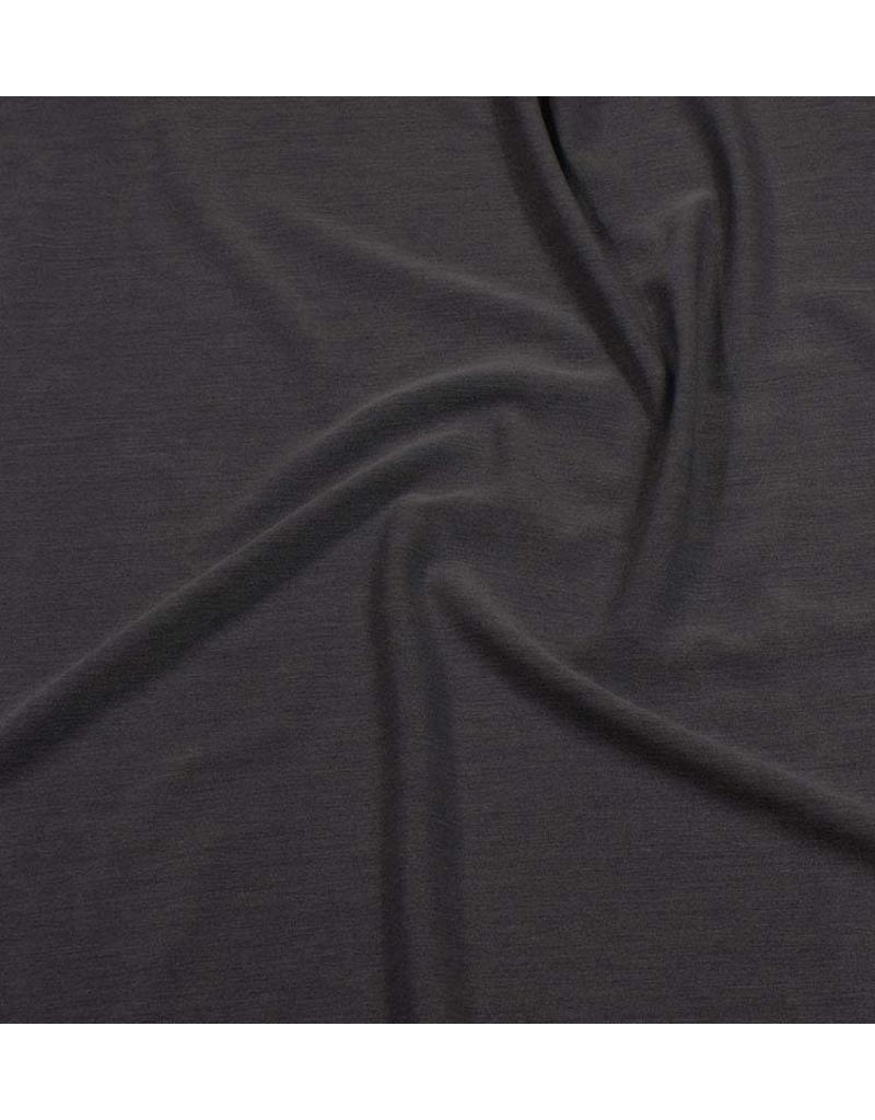 Gabardine Terlenka Stretch (zwaar) WT50 - donker grijs