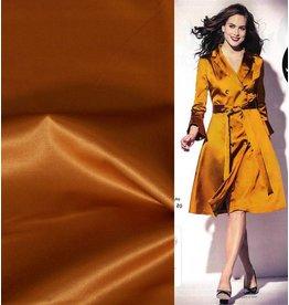 Uni S11 aus glänzender Baumwolle - goldgelb