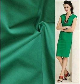Katoen Satijn Uni 0020 - smaragd groen - LAST