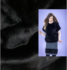Imitatie Bont B06 - zwart