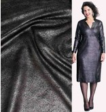 Similicuir Vintage IL18 - noir métallique