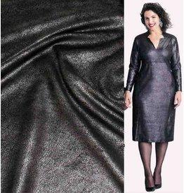 Simili cuir Vintage IL13 - noir métallisé