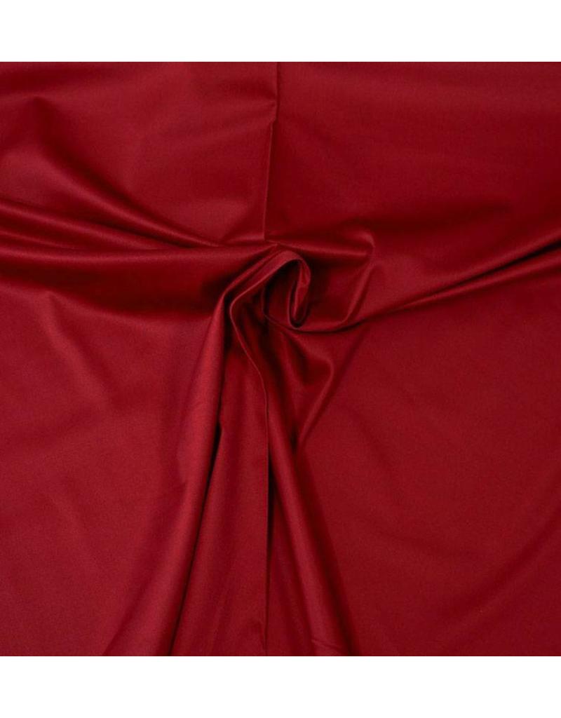 Cotton Satin Uni 0053 - dark red