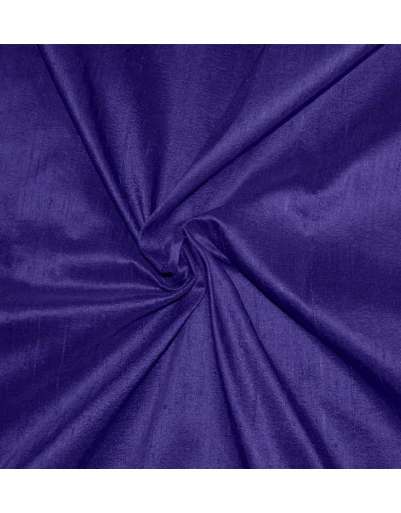 Soie de Dupion D35 - bleu de cobalt foncé / violet