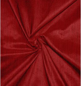 Dupion Silk D36 - dark red with black