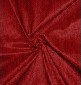 Dupion Silk D36 - rouge foncé avec noir