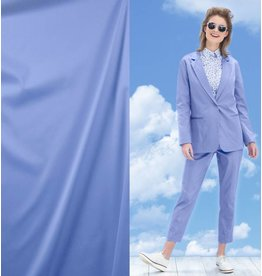Cotton Satin Uni 0028 - cornflower blue