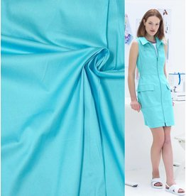 Cotton Satin Uni 0050 - helles Aquablau