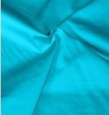Baumwollsatin Uni 0023 - aqua blau