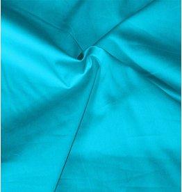 Katoen Satijn Uni 0023 - aqua blauw - LAST