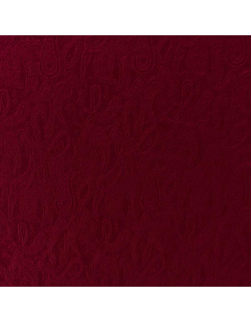 Paisley Jersey PA06 - dark red