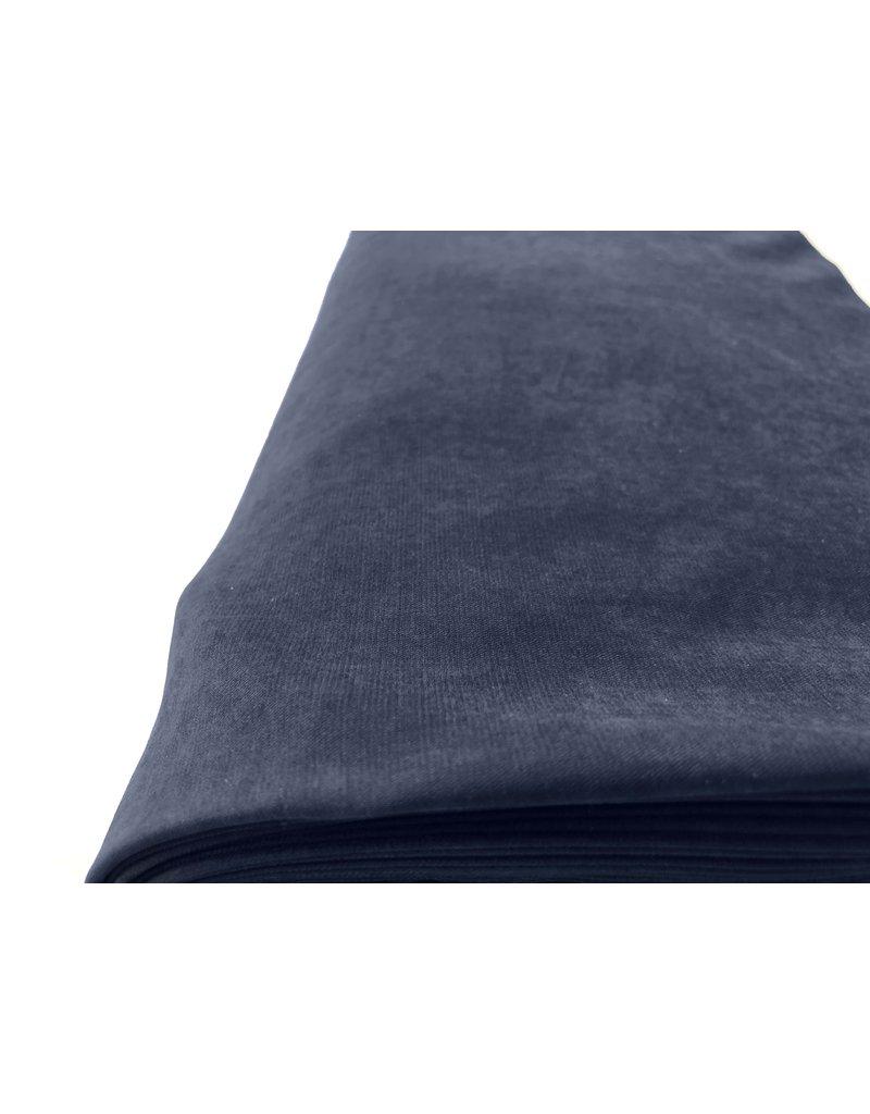 Stone Washed Cupro SW03 - donkerblauw