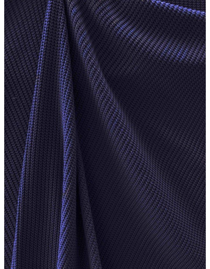 Gebreide Katoen W149 - donkerblauw