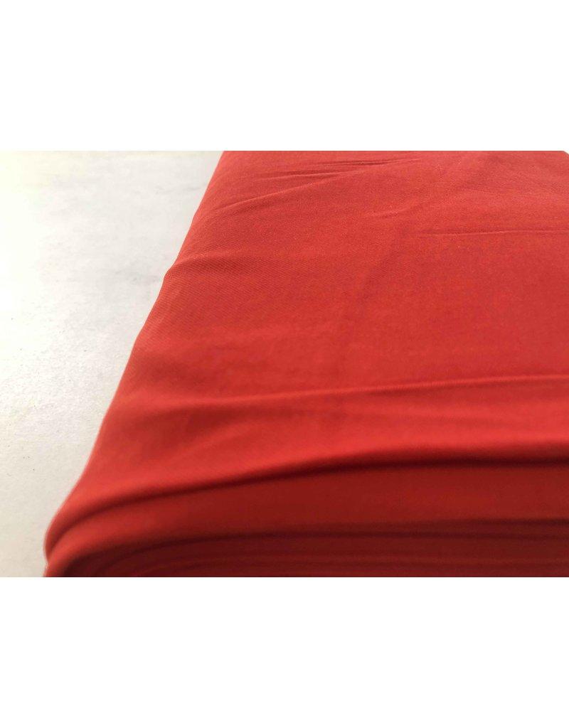 Gabardine Viscose Brossé SV02 - rouge vif