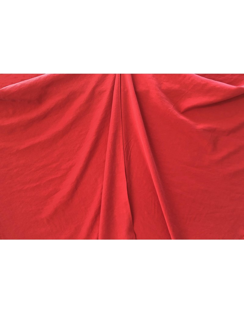 Viscose Gabardine Stone Washed GS03 - rouge