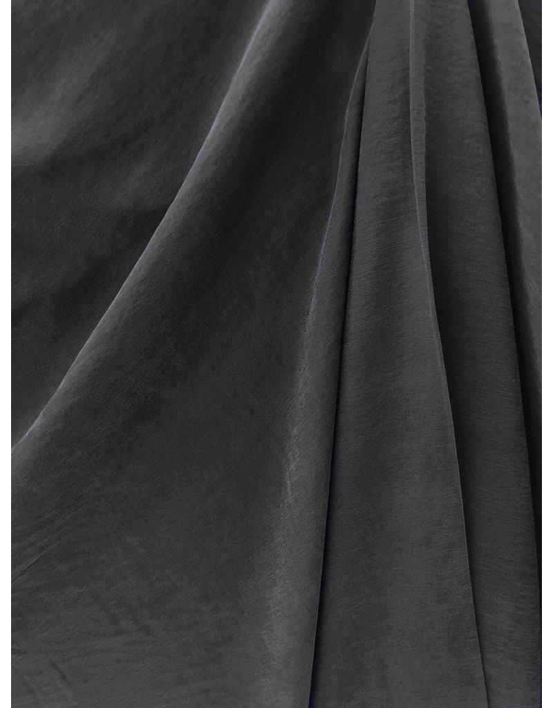 Viscose Gabardine Stone Washed GS04 - black
