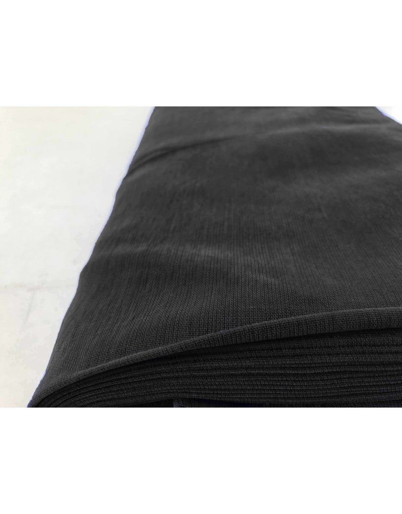 Viscose Gabardine Stone Washed GS04 - zwart
