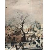 Glans Katoen Inkjet 1726 -  Winterlandschap met IJsvermaeck