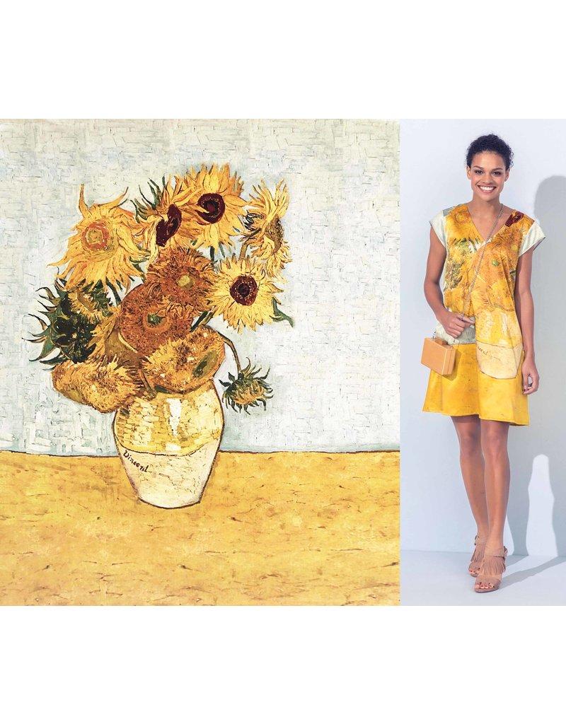 Glans Katoen Inkjet 747 - Zonnebloemen, Vincent Van Gogh