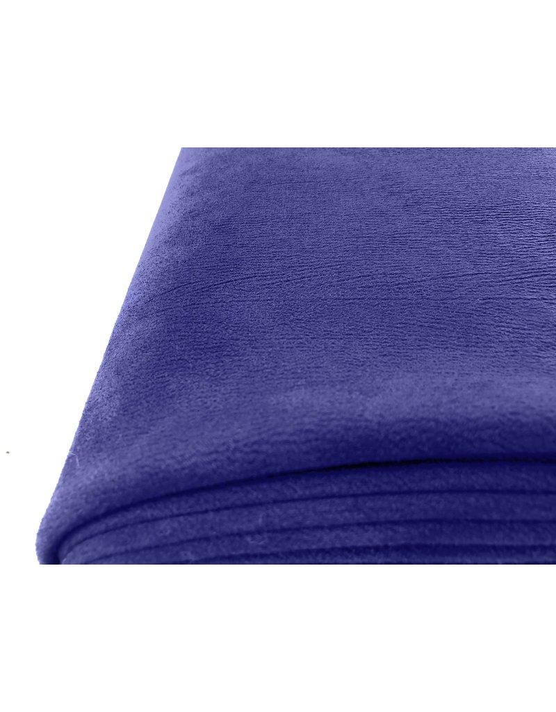 Imitatie Wildleder Stretch ES01 - kobaltblauw
