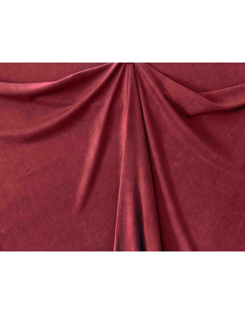 Imitation Wild leather Stretch ES02 - dark red