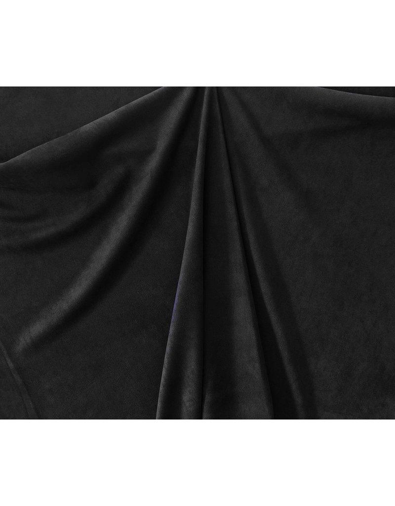 Imitatie Wildleder Stretch ES04 - zwart