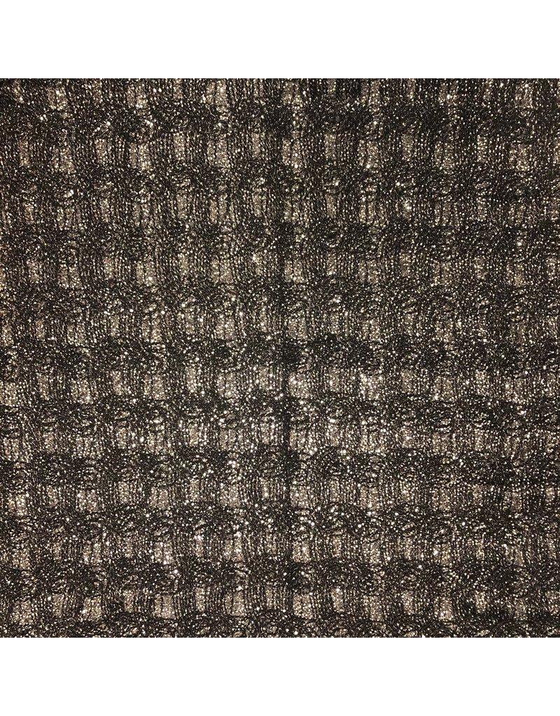 Spitzen - Strick mit Pailletten 760 - Anthrazit
