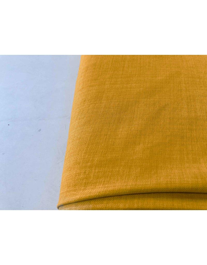 Leinen Wolle Imitation LW02 - Ockergelb