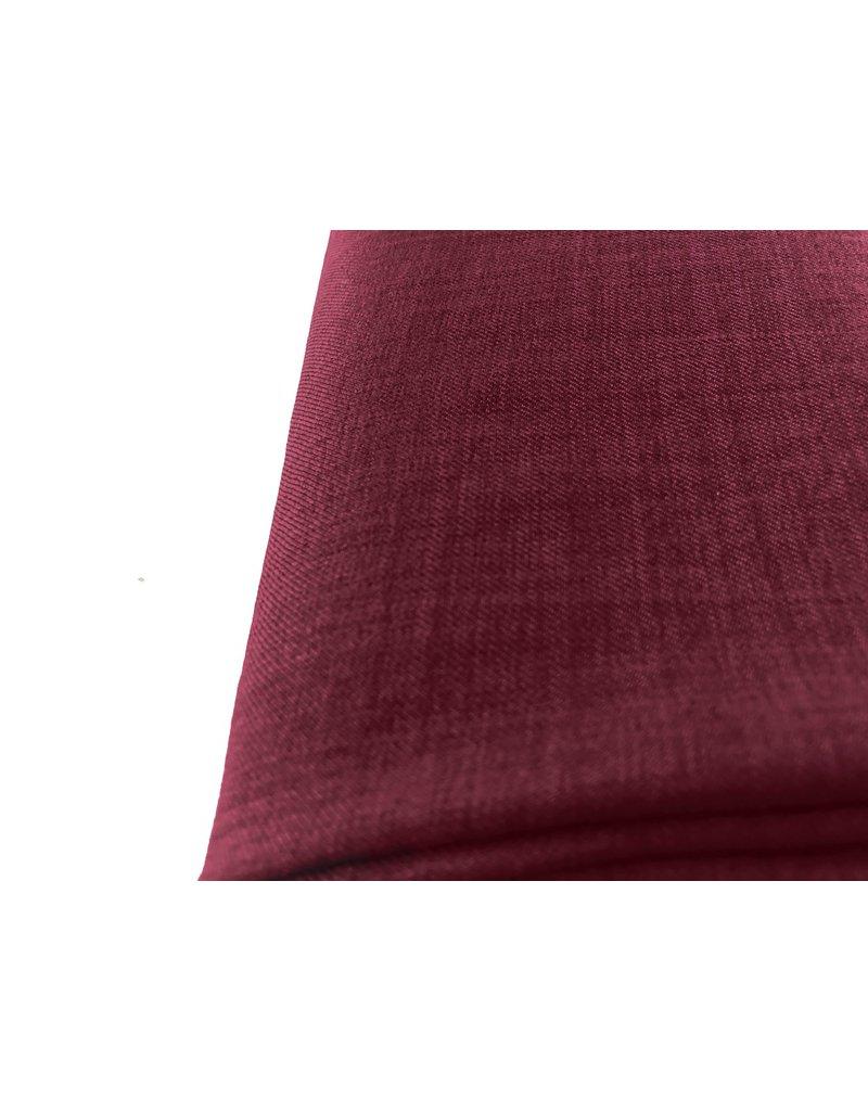 Leinen Wolle Imitation LW03 - dunkelrot