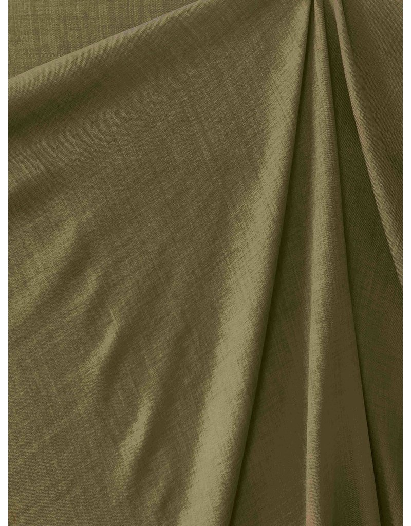 Leinen Wolle Imitation LW06 - Armee grün