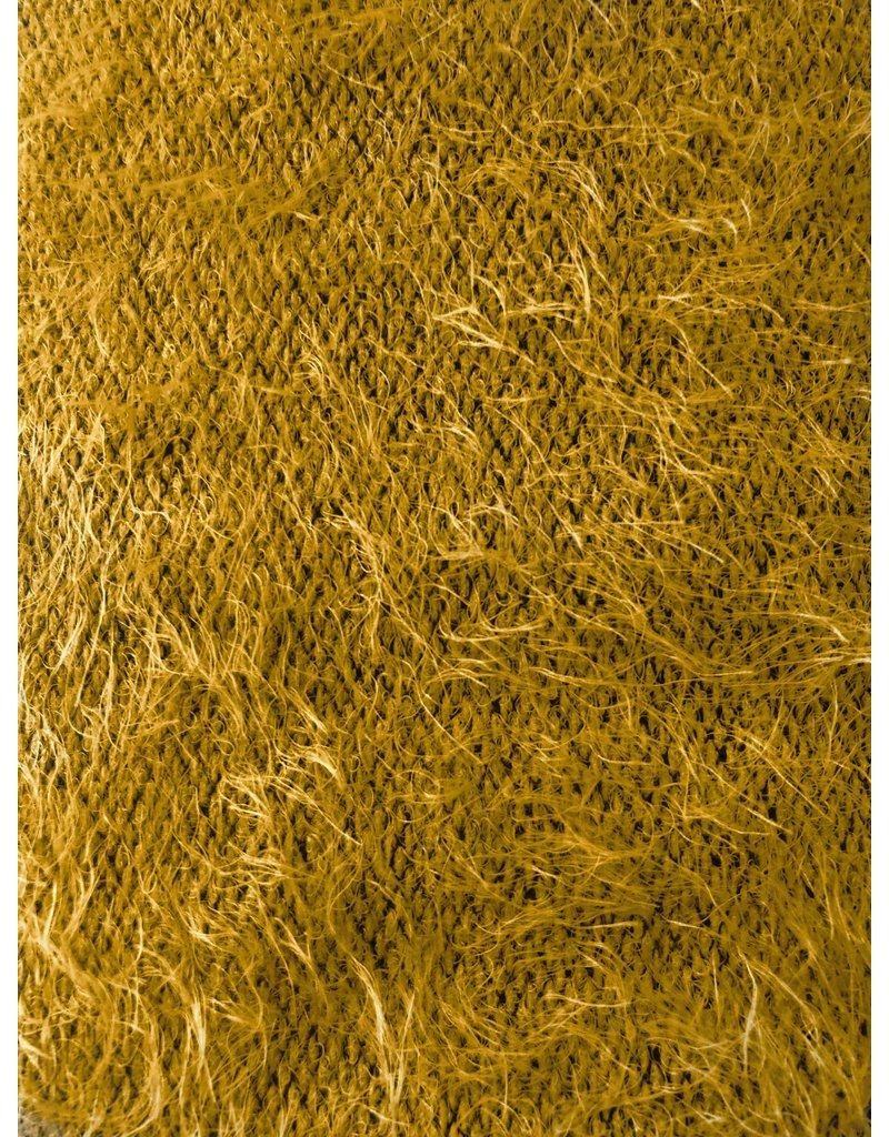 Fluffy Knit Melange FB02 - Ockergelb