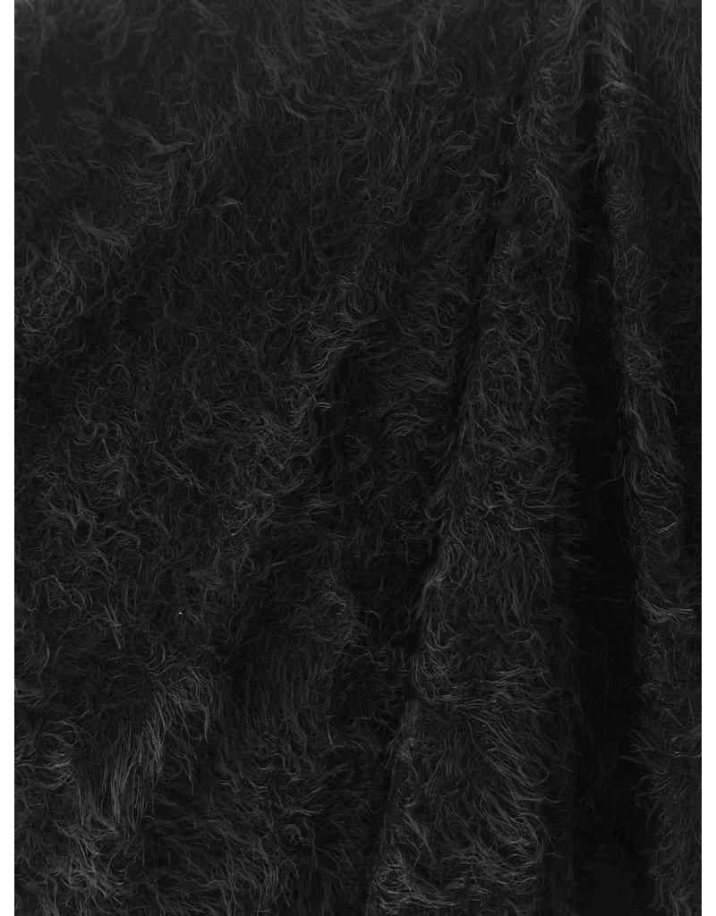 Fluffy Knit Melange FB04 - noir