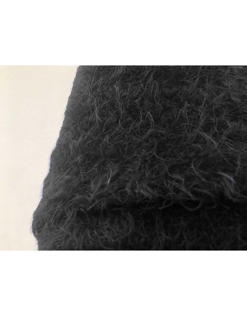 Fluffy Knit Melange FB04 - black