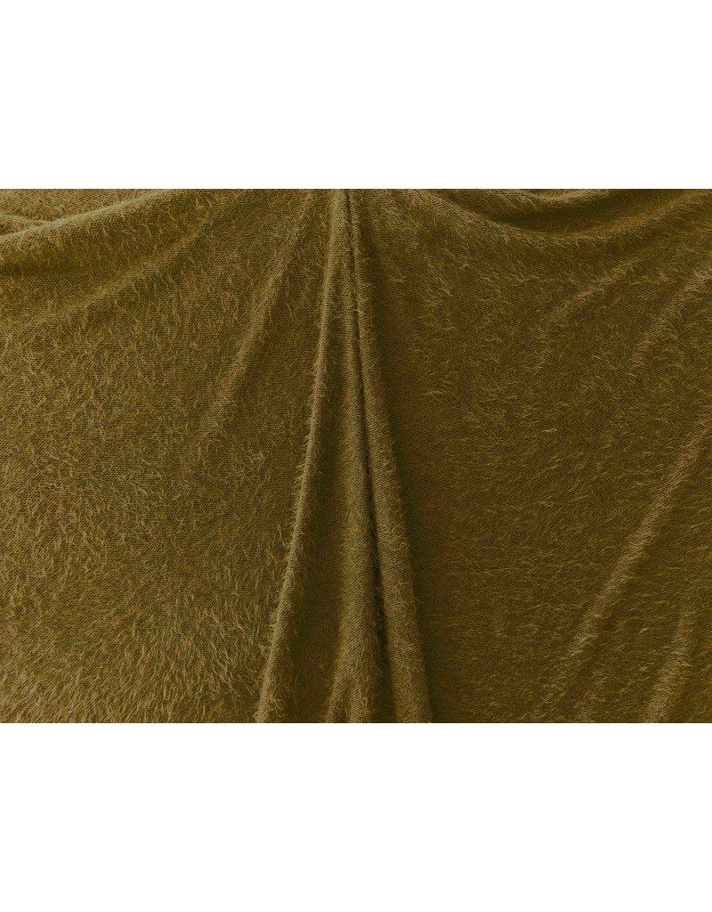 Fluffy Knit Melange FB06 - olivgrün