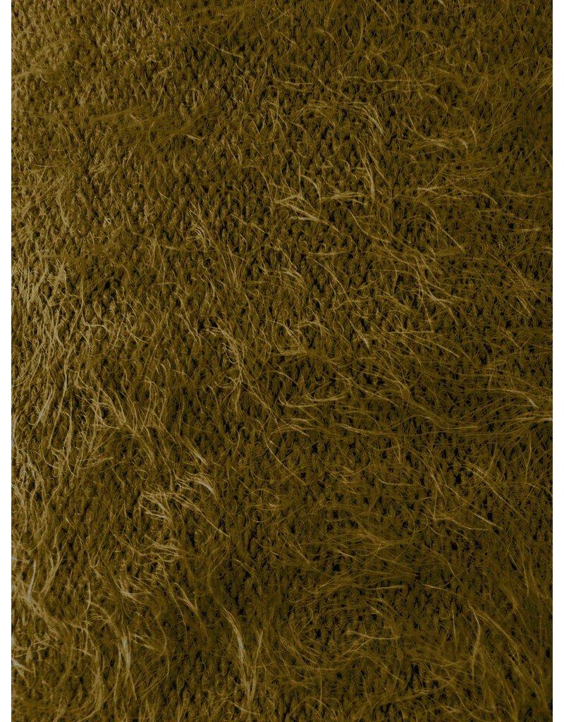 Fluffy Knit Melange FB06 - olive green