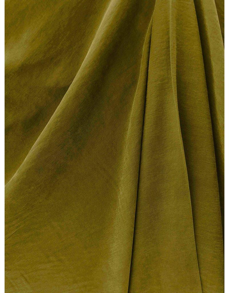 Viscose Gabardine Stone Washed GS11 - olive green