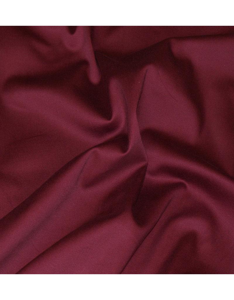 Baumwollsatin Uni 002 - bordeaux rot
