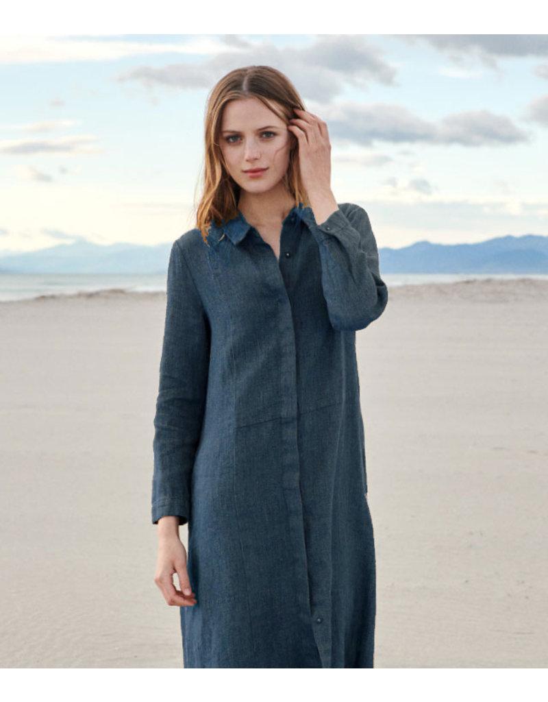 Linnen Wol Imitatie LW01 - jeansblauw