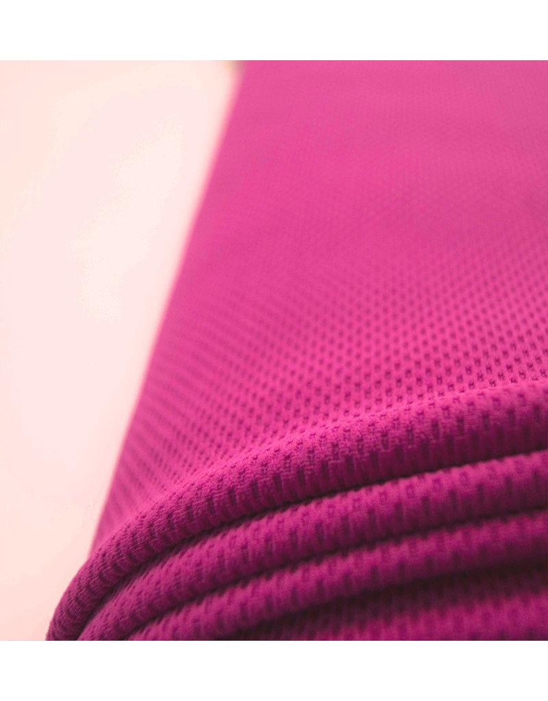 Piqué Stretch PS18 - donker fuchsia