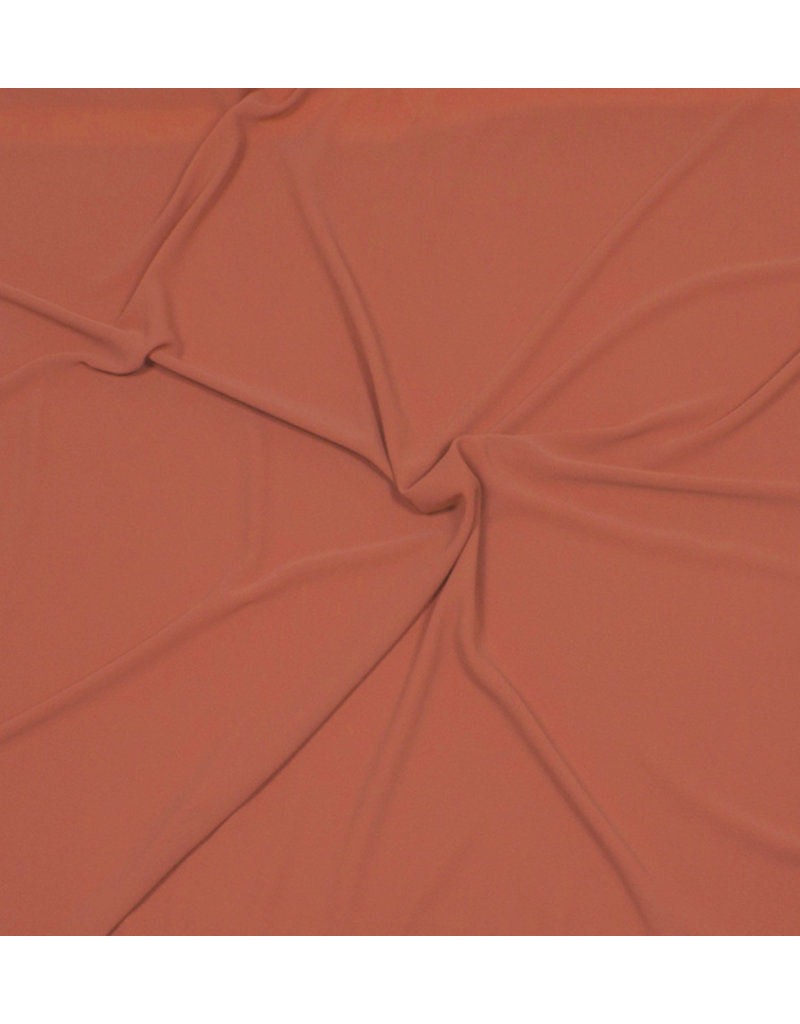 Geprägter Chiffon SC03 - Brique / Orange