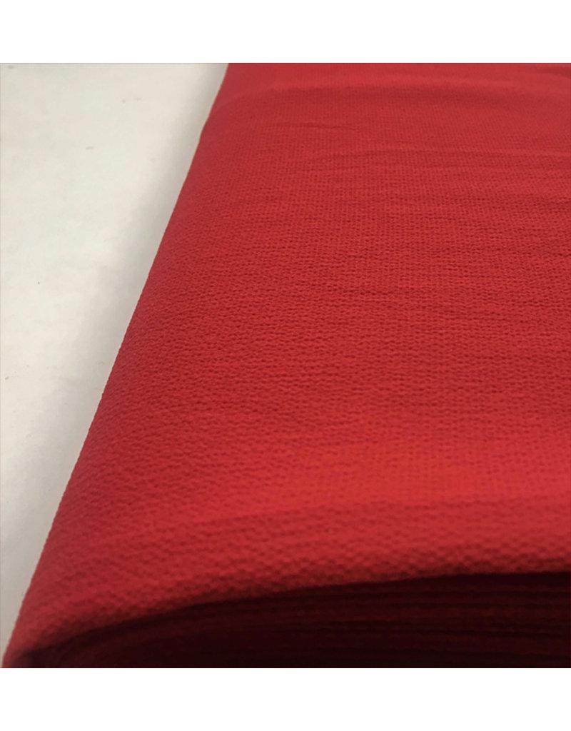 Mousseline de soie gaufrée SC19 - rouge