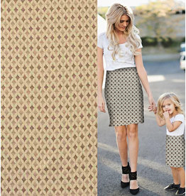 Jacquard Knitted W100 - creme / pink / beige