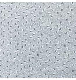 Baumwolle bestickt weiß - 396